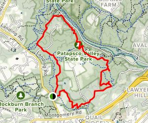 Morning Choice, Cascade Falls, Ridge, Rockburn Branch, Hop the Snake and Nacho Trail Loop Map