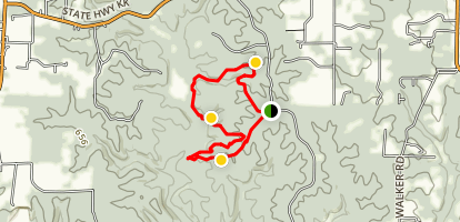 Big Sugar Creek Trail, Cuivre River loop Map