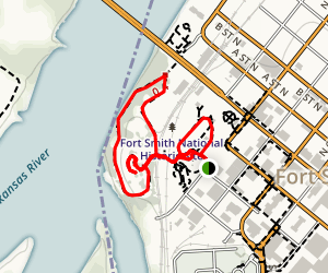 Fort Smith National Historic Site Loop Trail Map