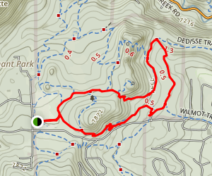 Sisters Trail, Hidden Fawn, Ponderosa Loop Map