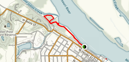 Rotary Riverfront Trail West Map
