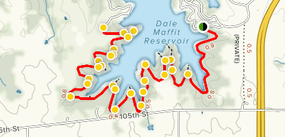 Dale Maffitt Reservoir Trail Map