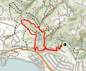 Portuguese Bend Landslide Loop Map