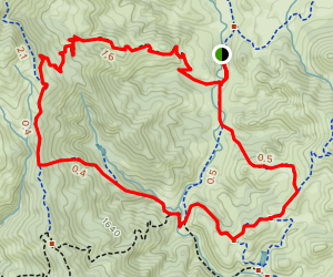 Alquist, Turkey Pond, and Mustang Cut Off Trail Map