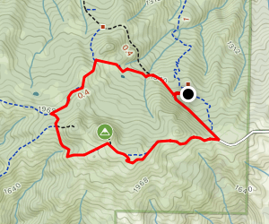 Burra Burra Peak and Hersman Pond Loop Map