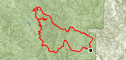 Dowdy Ranch to Pacheco Falls Map