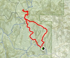 Tie Down Peak via Mack's Corral and North Fork Trail Map