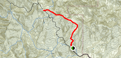 Mack's Corral and North Fork Trail Map