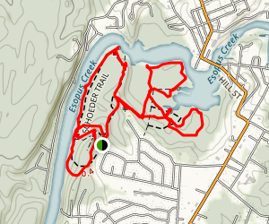 South Trail, Schoeder Trail, Meadow, and Wetland Trail Loop Map