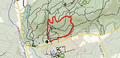 Yellow, Red Triangle and White Trail Loop [CLOSED] Map
