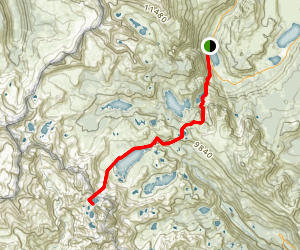 Silver Lake to Lake Catherine via North Glacier Pass Map
