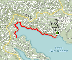 Lake Arrowhead: Tavern Bay to Hamiltair Cove [PRIVATE PROPERTY] Map