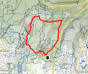 Old Buck, Baden Powell, and Bridle Trail Loop Map