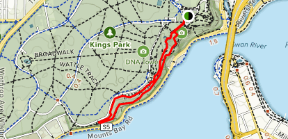 Low Walk and Law Walk Loop Map