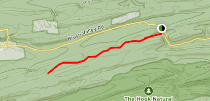 Mid-State Trail from PA192 Map