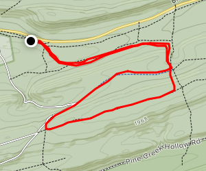 Stopover Gap, Fallen Timber, Mid-State Loop Map