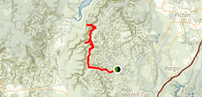 Beloon Pass from Starlight Trail Map
