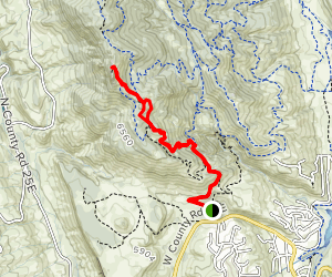 South Ridge and Horsetooth Rock to Horsetooth Mountain Map