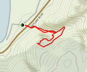 Deadman's Overlook Trail Map