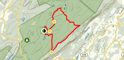 Stokes State Forest - Fire Tower Loop Map