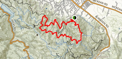 New Almaden, Randol, Santa Isabel and Hacienda Trail Loop Map