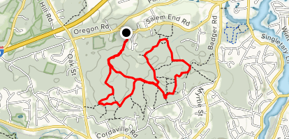 Bay Circuit Trail to Red, Yellow, Blue Loop Map