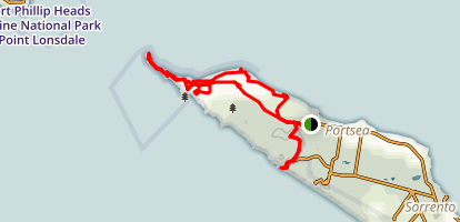 Coles Track to Chevoit Hill, Wilsons Folly to London Bridge Lookout  Map