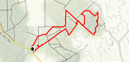Mount Pleasant Summit Trail: Circuit 3&2 Map