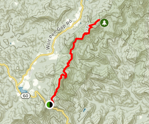 Woody Gap to Jarrard Gap Map
