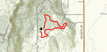 Red Apple and Rock Garden Trails Map