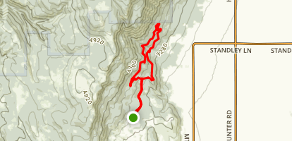 Mount Emily Recreation Area Loop Map