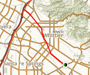 Whittier Greenway Trail Map