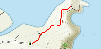 Te Pare Point Historic Reserve Trail Map