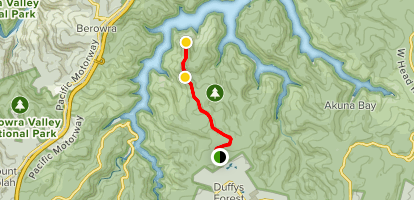 Long Trail to Peaches Viewpoint Map