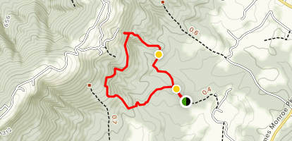Ash Lawn Highland Trail: Red Route Map