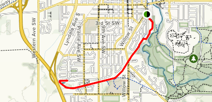 Straight River Trail Map