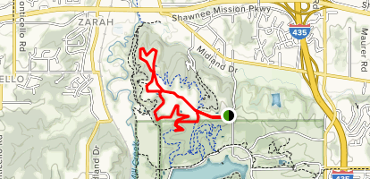 Access Road to Red Trail Loop Map