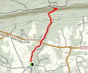 Appalachian Trail to Cumberland Valley Overlook Map