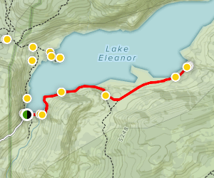 Lake Eleanor Hike Map