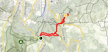 Ridgeline Trail: Fox Hollow to Mt. Baldy Loop Map