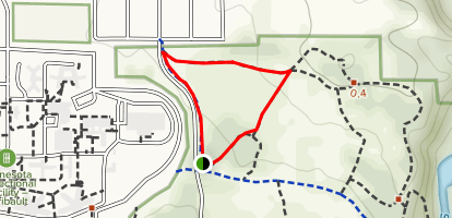Walnut, Arbor, and Raccoon Trails Loop Map