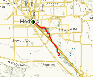 Bear Creek Greenway: South Medford Map