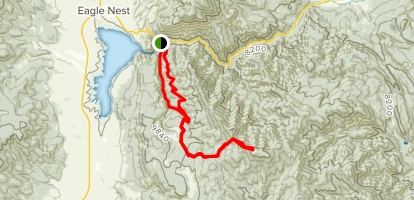 Tolby Creek Trail to Mt. Phillips Map