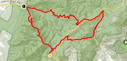 Furnace Mountain Jones and Doyles Rivers Loop Map