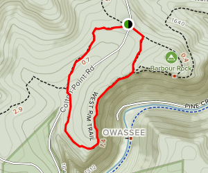 West Rim Trail Loop Map