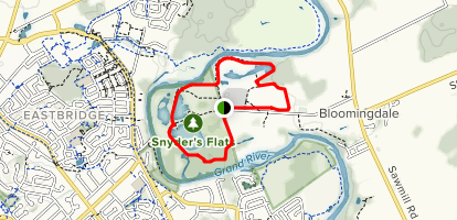 Snyder Flats Loop Map