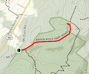 Mount Zion Church to Catoctin Shelters via Catoctin Trail Map
