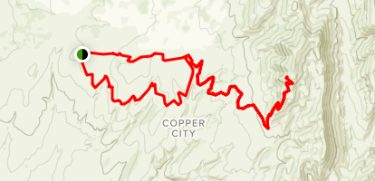 Copper City Trails Map