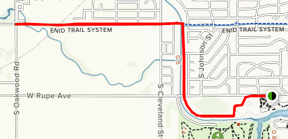 Meadow Lake Park to Enid Trail Map