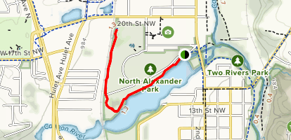 North Alexander Park Trail  Map